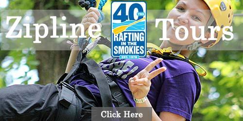 Zipline Tours with Rafting in the Smokies