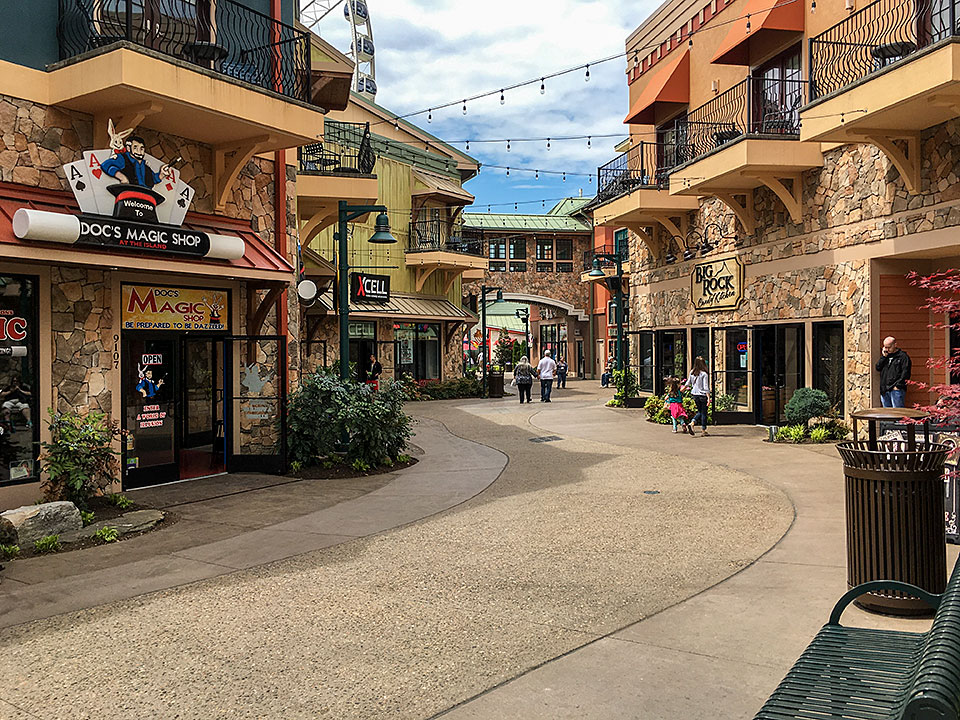 Shopping at The Island in Pigeon forge